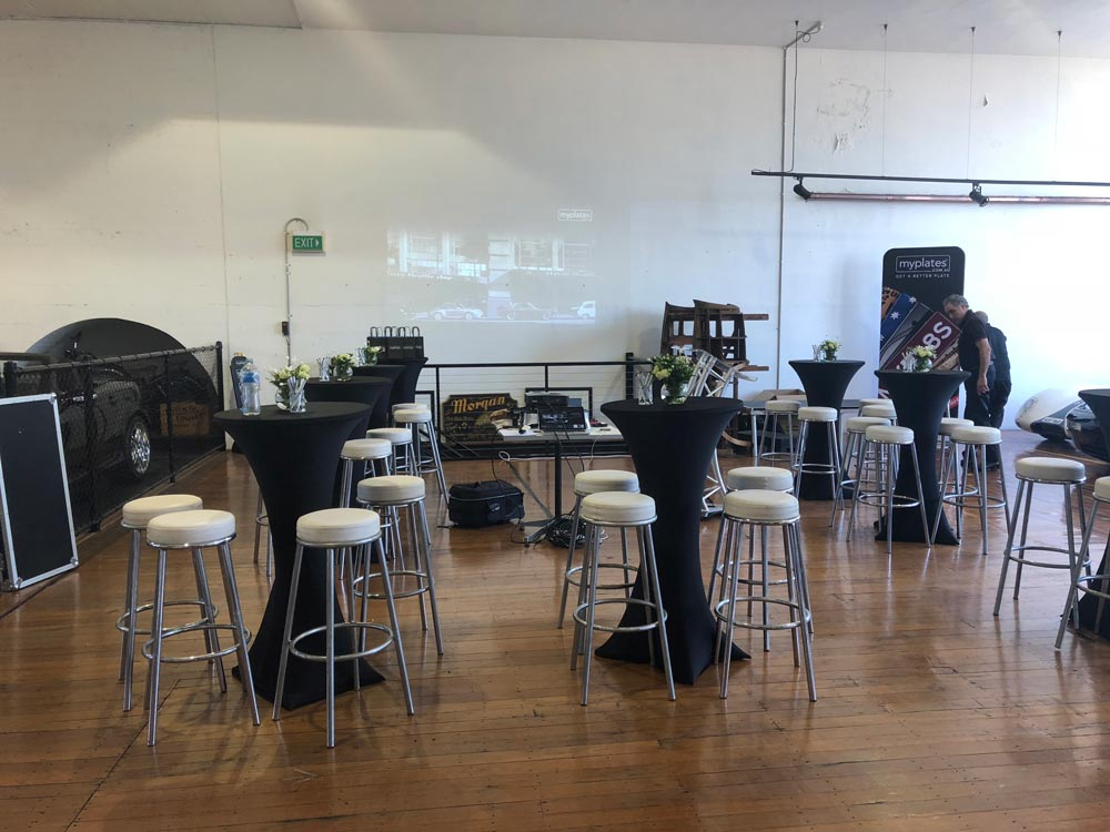 Boardwalk Catering at the Classic Throttle Shop Venue Sydney