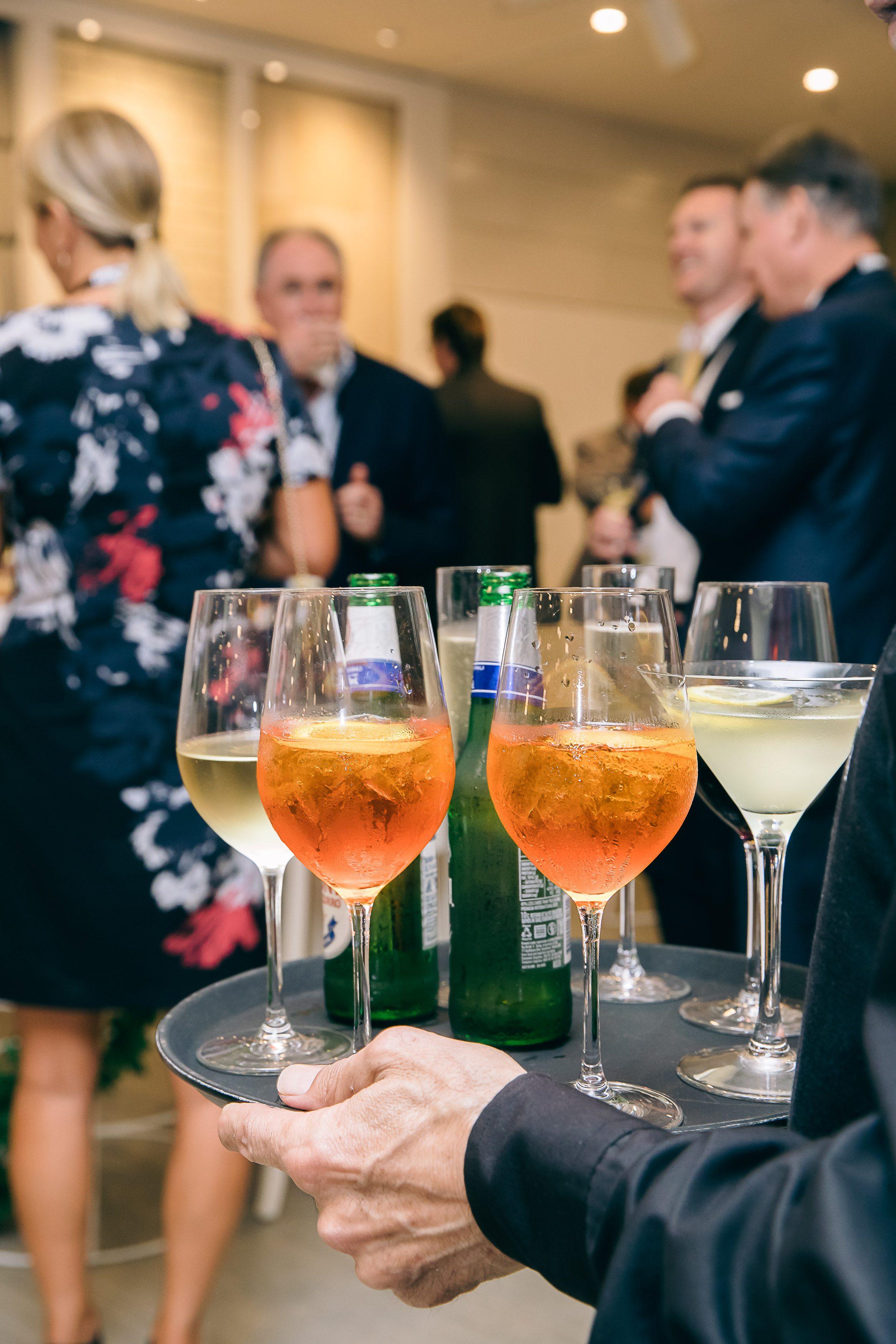 Wedding drinks service